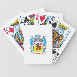 Escudo de armas del Daly - escudo de la familia Baraja Cartas De Poker
