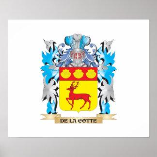 Escudo de armas del De-La-Cotte - escudo de la fam Póster