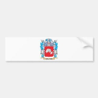 Escudo de armas del delfín - escudo de la familia etiqueta de parachoque