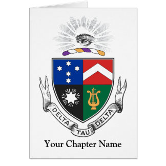 Escudo de armas del delta del Tau del delta Tarjeta Pequeña