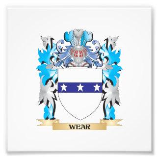 Escudo de armas del desgaste - escudo de la cojinete