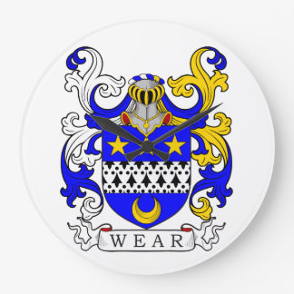 Escudo de armas del desgaste relojes de pared