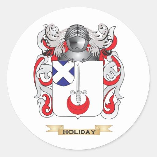 Escudo de armas del día de fiesta (escudo de la pegatinas redondas