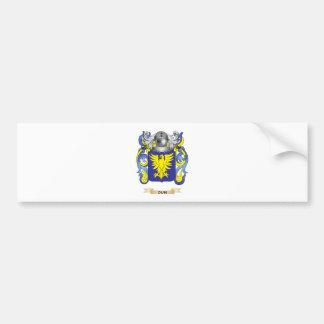 Escudo de armas del Dun Etiqueta De Parachoque