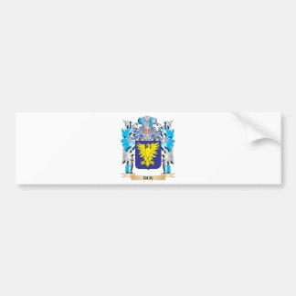 Escudo de armas del Dun - escudo de la familia Pegatina Para Coche