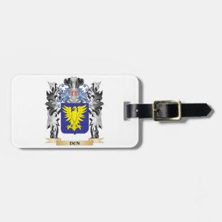 Escudo de armas del Dun - escudo de la familia Etiquetas Bolsas