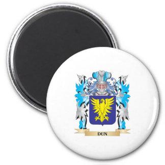 Escudo de armas del Dun - escudo de la familia Imán Redondo 5 Cm