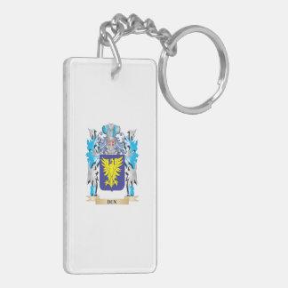 Escudo de armas del Dun - escudo de la familia Llavero Rectangular Acrílico A Doble Cara