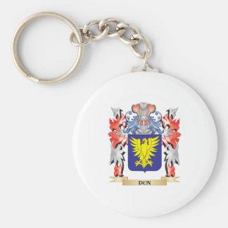 Escudo de armas del Dun - escudo de la familia Llavero Redondo Tipo Pin