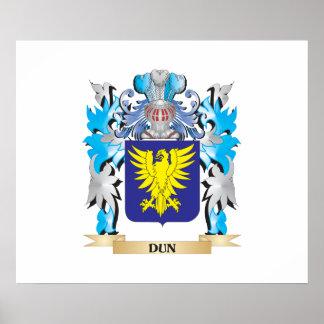 Escudo de armas del Dun - escudo de la familia