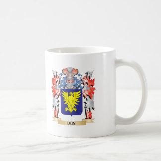 Escudo de armas del Dun - escudo de la familia Taza De Café