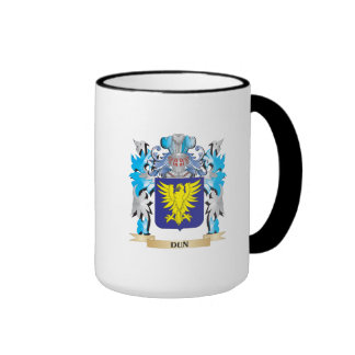 Escudo de armas del Dun - escudo de la familia Taza De Dos Colores