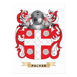 Escudo de armas del embalador (escudo de la postales
