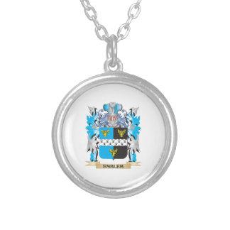 Escudo de armas del emblema - escudo de la familia colgante redondo