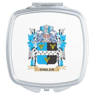 Escudo de armas del emblema - escudo de la familia espejos maquillaje