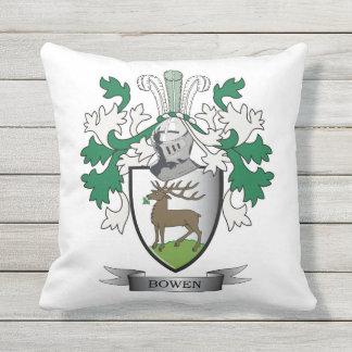 Escudo de armas del escudo de la familia de Bowen Cojín Decorativo