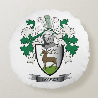 Escudo de armas del escudo de la familia de Bowen Cojín Redondo