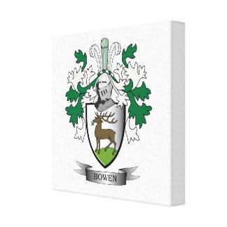 Escudo de armas del escudo de la familia de Bowen Impresión En Lienzo