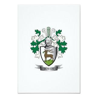"""Escudo de armas del escudo de la familia de Bowen Invitación 3.5"""" X 5"""""""