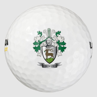Escudo de armas del escudo de la familia de Bowen Pack De Pelotas De Golf