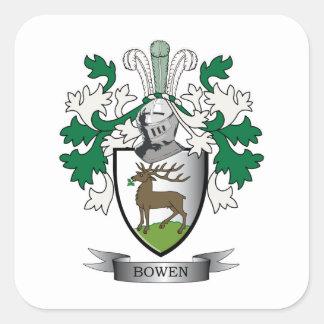 Escudo de armas del escudo de la familia de Bowen Pegatina Cuadrada