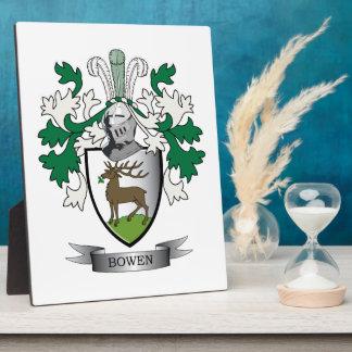 Escudo de armas del escudo de la familia de Bowen Placa Expositora