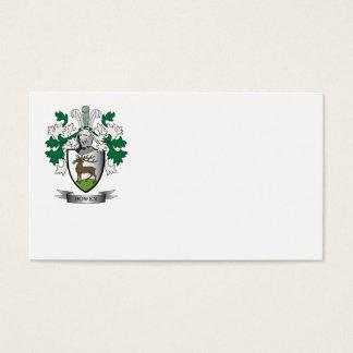 Escudo de armas del escudo de la familia de Bowen Tarjeta De Negocios