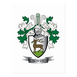 Escudo de armas del escudo de la familia de Bowen Tarjeta Postal