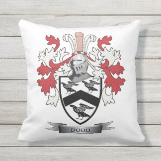 Escudo de armas del escudo de la familia de Dodd Cojín Decorativo