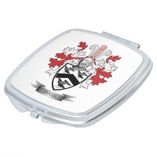 Escudo de armas del escudo de la familia de Dodd Espejos De Maquillaje