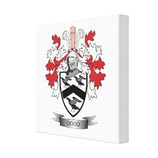 Escudo de armas del escudo de la familia de Dodd Impresión En Lienzo