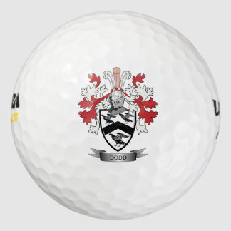 Escudo de armas del escudo de la familia de Dodd Pack De Pelotas De Golf