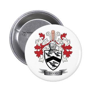 Escudo de armas del escudo de la familia de Dodd Pin Redondo De 2 Pulgadas
