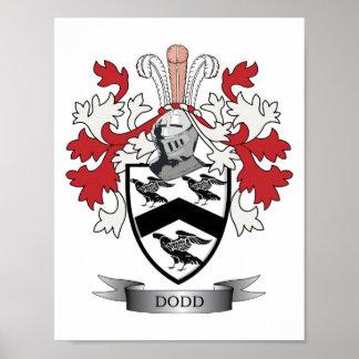 Escudo de armas del escudo de la familia de Dodd Póster