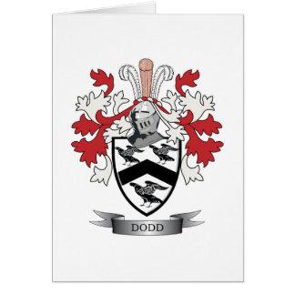 Escudo de armas del escudo de la familia de Dodd Tarjeta De Felicitación