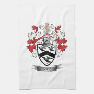 Escudo de armas del escudo de la familia de Dodd Toallas De Cocina