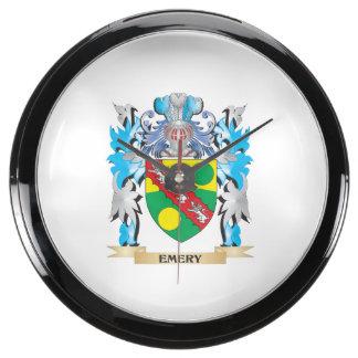 Escudo de armas del esmeril - escudo de la familia relojes acuario