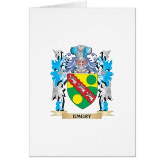 Escudo de armas del esmeril - escudo de la familia tarjeta de felicitación