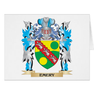 Escudo de armas del esmeril - escudo de la familia tarjeta de felicitación grande