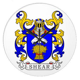 Escudo de armas del esquileo reloj de pared