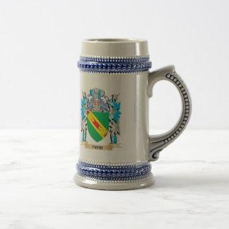 Escudo de armas del fraile - escudo de la familia jarra de cerveza