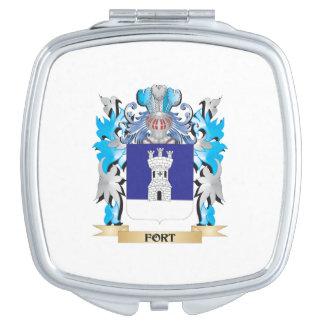 Escudo de armas del fuerte - escudo de la familia espejos para el bolso
