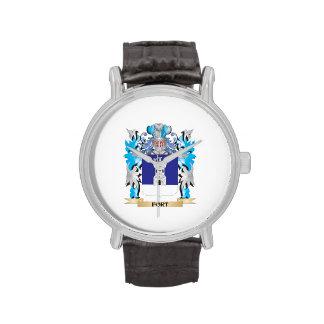 Escudo de armas del fuerte - escudo de la familia relojes de pulsera