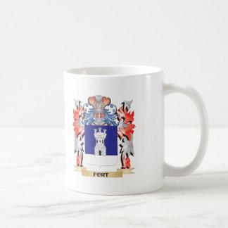 Escudo de armas del fuerte - escudo de la familia taza de café