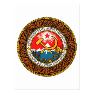 Escudo de armas del funcionario del emblema de la  tarjeta postal