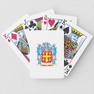 Escudo de armas del galopín de cocina - escudo de baraja de cartas