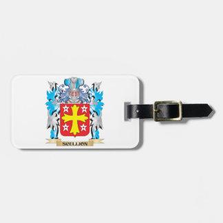 Escudo de armas del galopín de cocina - escudo de etiquetas maletas