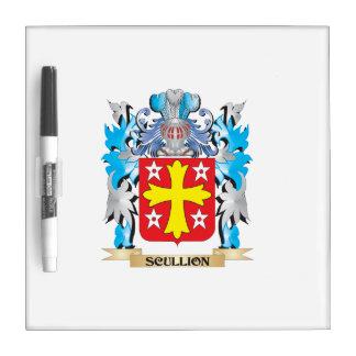 Escudo de armas del galopín de cocina - escudo de tableros blancos