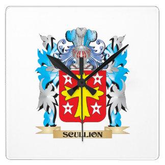 Escudo de armas del galopín de cocina - escudo de reloj de pared