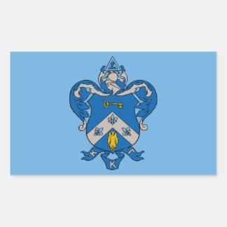 Escudo de armas del Gama de Kappa Kappa Pegatina Rectangular